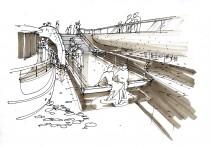 a hídfő egyben kikötő is