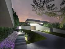 az épület látványát este a fények határozzák meg